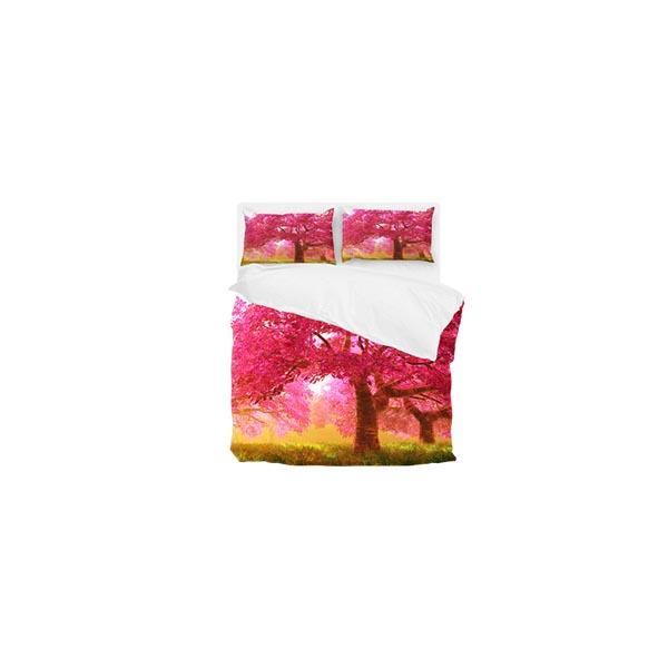 ست لحاف تک نفره ۴ تکه سه بعدی king size -طرح pink spring